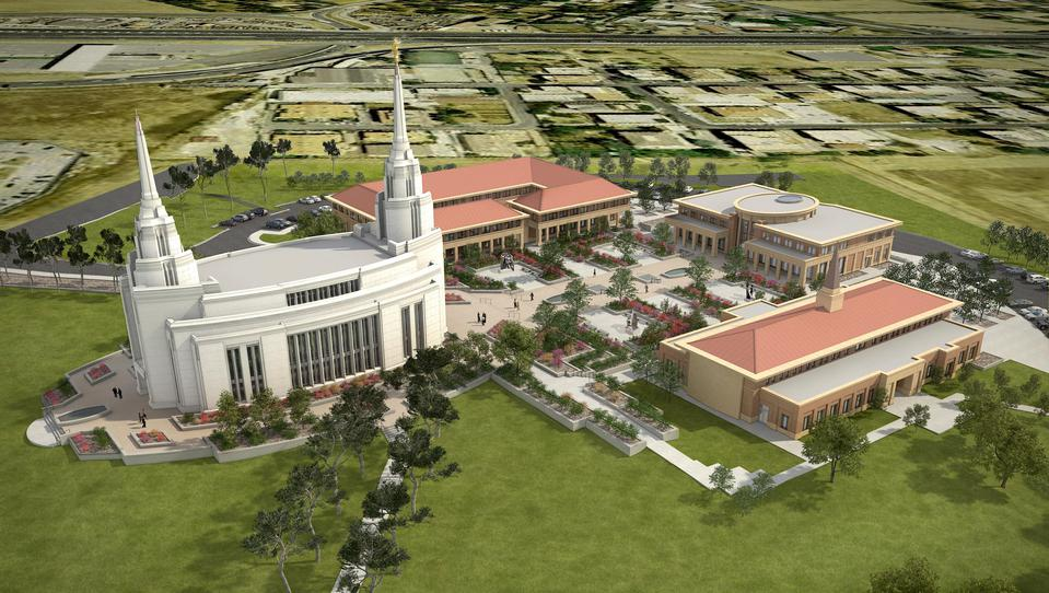 rome italy temple rendering aerial
